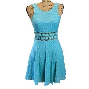 Free People Sleeveless Turquoise Blue Dress Sz- 4